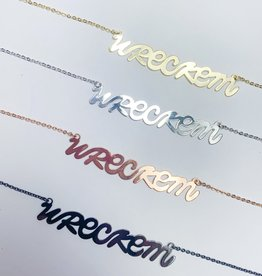 LOLA & LINA Wreck Em Script Necklace
