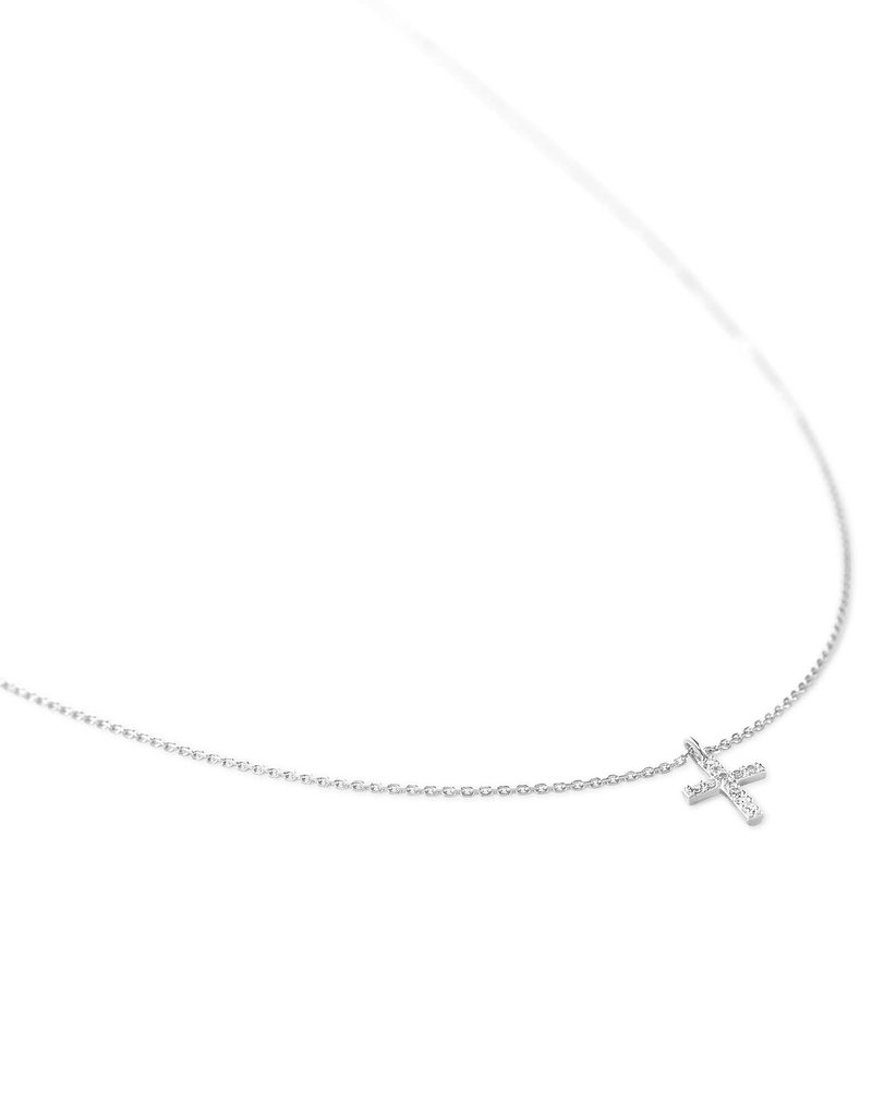 KENDRA SCOTT Cross Pendant Necklace in White Diamonds