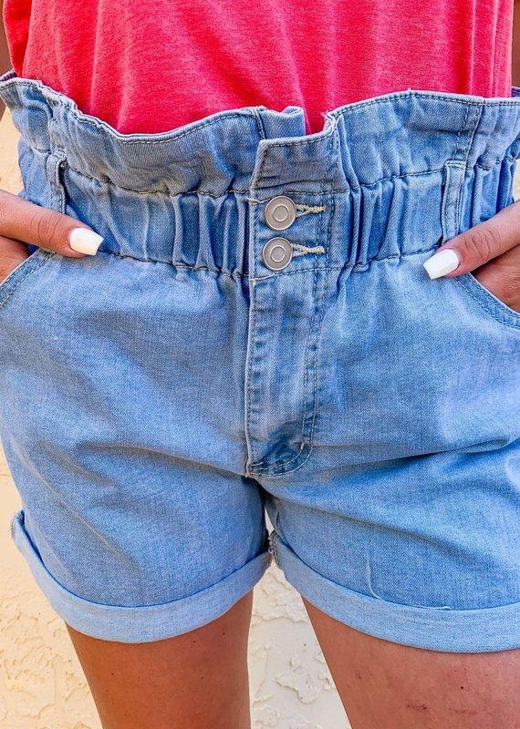 Web2secrets That's So 70's Denim Shorts in Light Wash