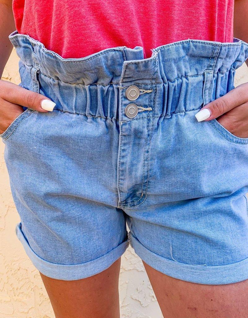 Hookedwebdesign That's So 70's Denim Shorts in Light Wash