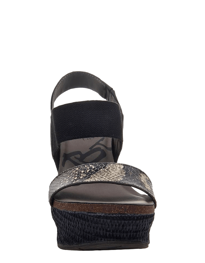 OTBT Bushnell Wedge Sandal in Black