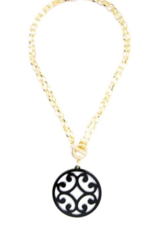 ZENZII Circle Scroll Convertible Necklace