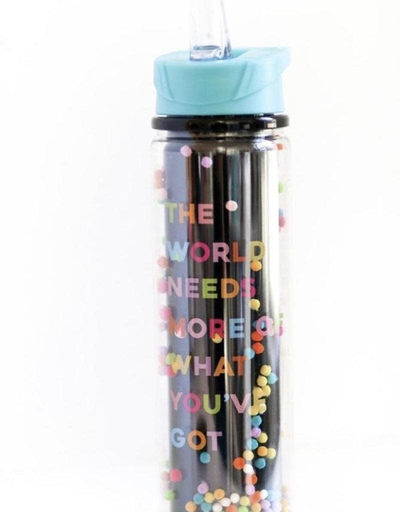 3HAPPYHOOLIGANS Confetti Water Bottle