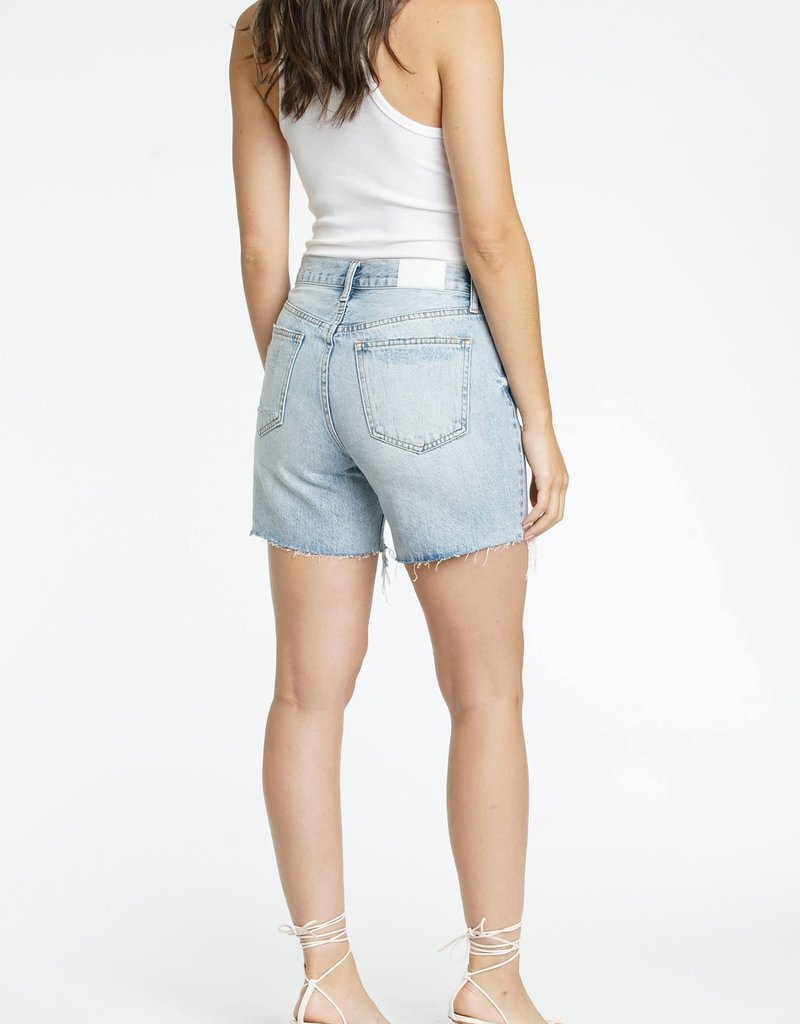 PISTOLA Devin High Rise Mom Cut Off Shorts in Light Wash
