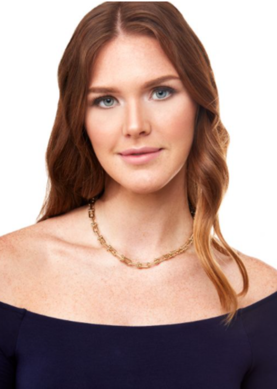 ZENZII Elongated Cable Chain Collar Necklace