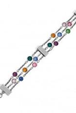 Elora Gems Tri Strand Bracelet
