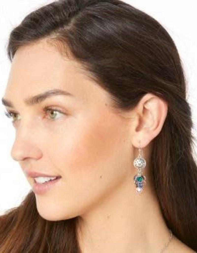 Elora Gems Cascade French Wire Earrings