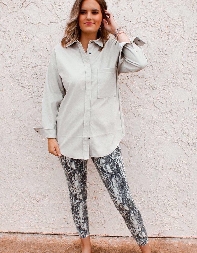 RDINTERNATIONAL Felicia Faux Leather Shirt