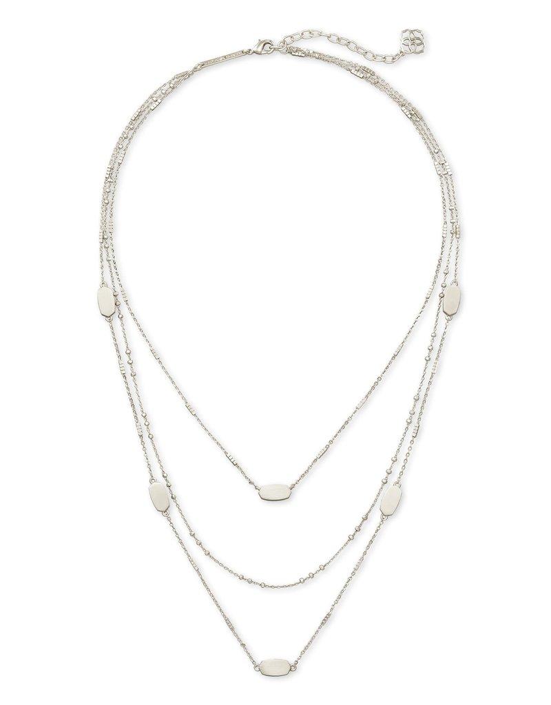 KENDRA SCOTT Fern Triple Strand Necklace