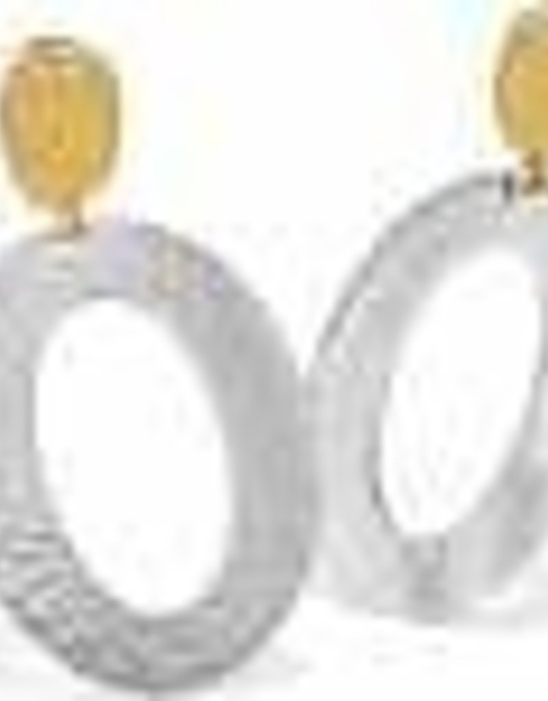 Ferrara Artisan Two Tone Drop Earrings