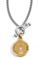 Ferrara Two Tone Locket Necklace