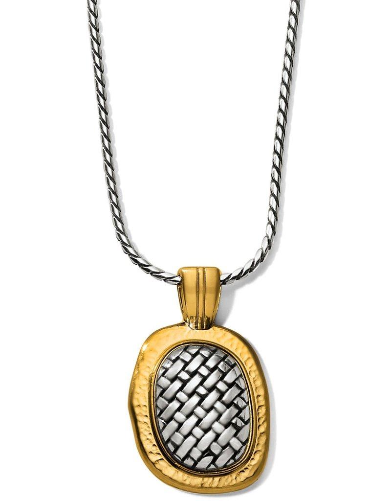 Ferrara Artisan Two Tone Pendant Necklace