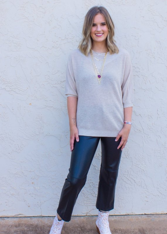 JADE MELODY Gloria's Gold Flecked Sweater