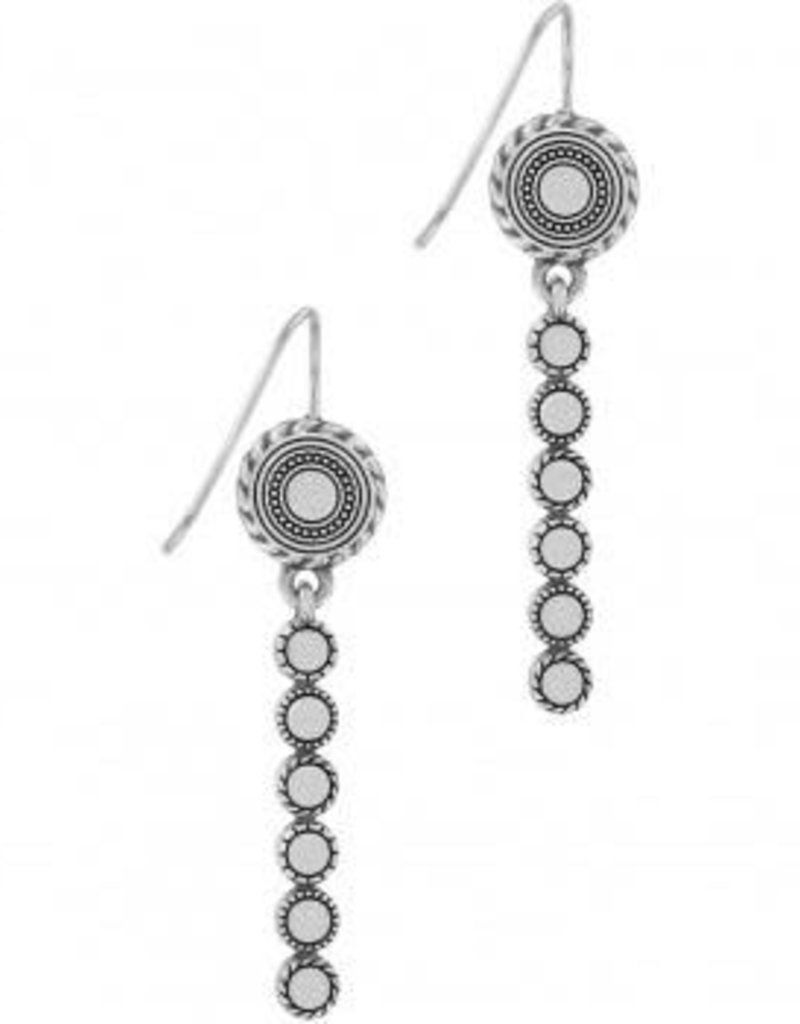 Halo Eclipse Long French Wire Earrings