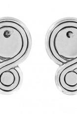 Infinity Sparkle Pearl Earrings