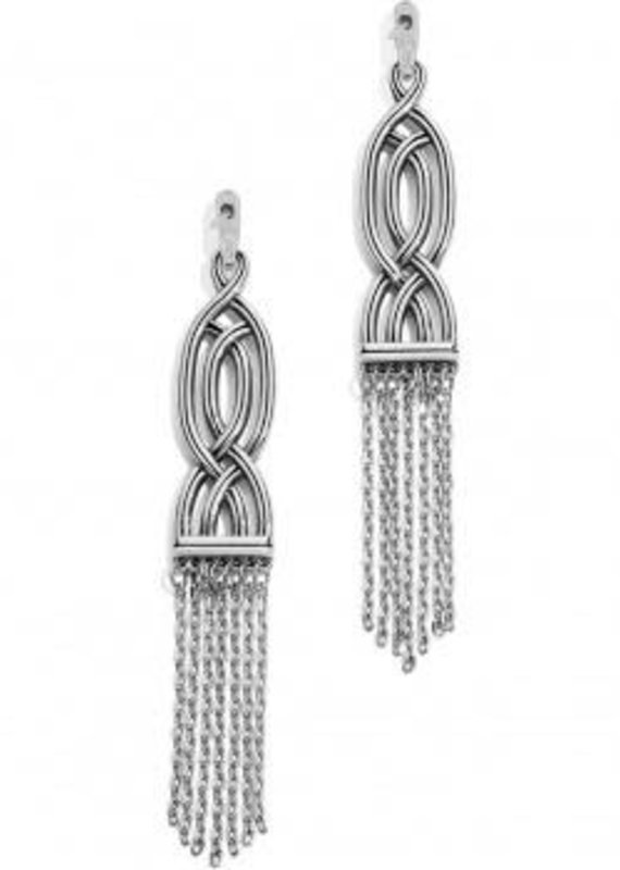Interlok Fringe Post Drop Earrings