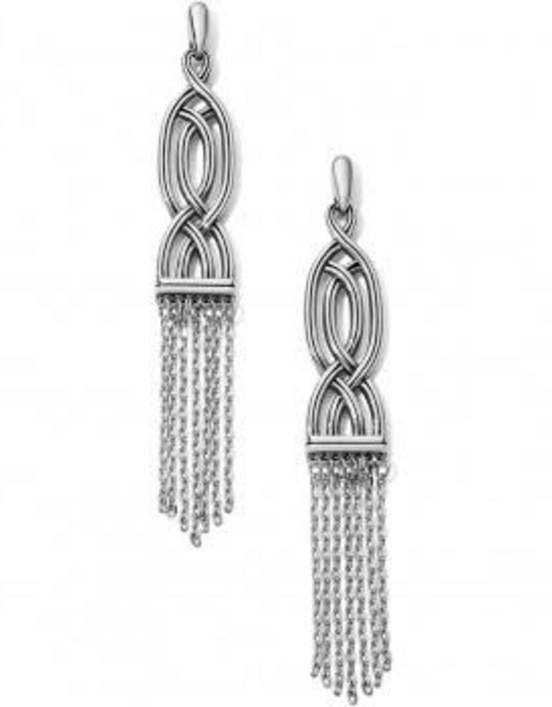 Intertwine Fringe Post Drop Earrings