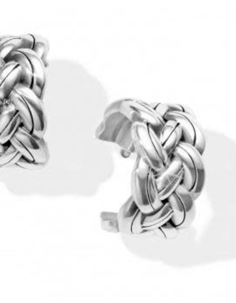 Interlok Woven Hoop Earrings