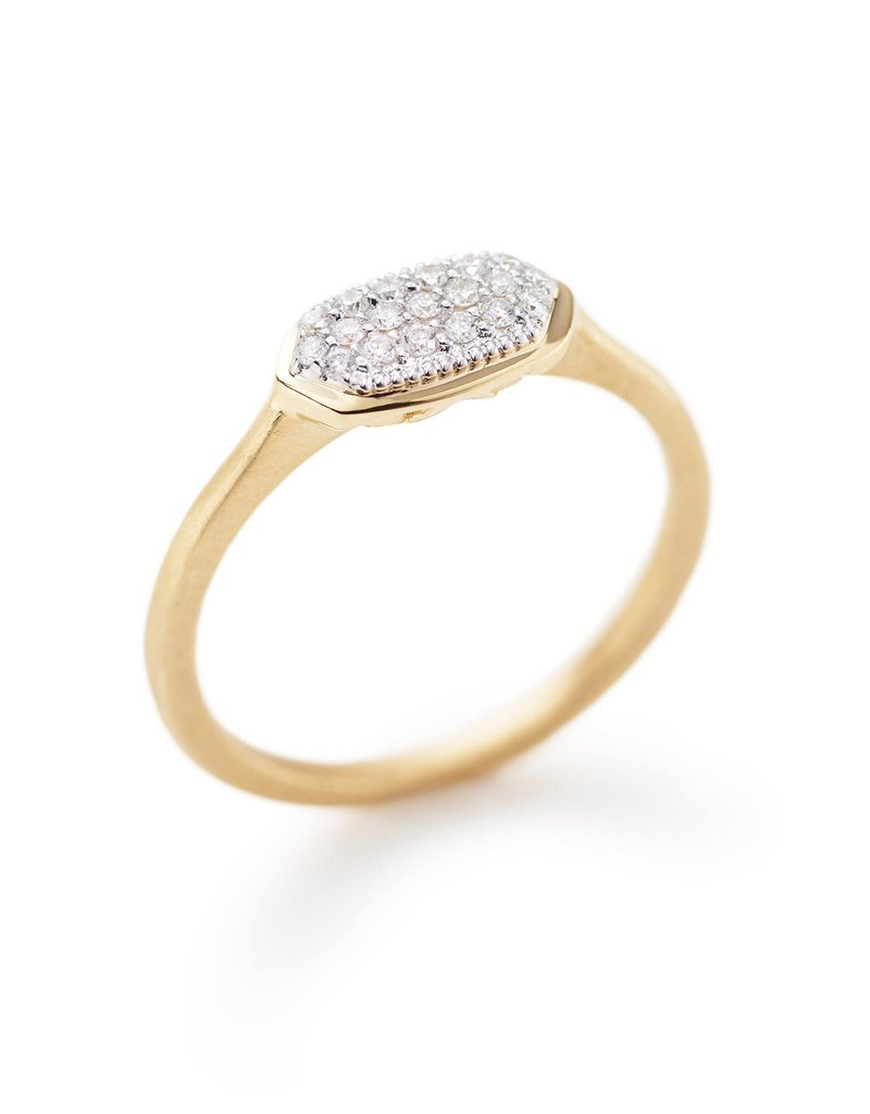 KENDRA SCOTT Isa Ring In Pave Diamond And 14k Yellow Gold