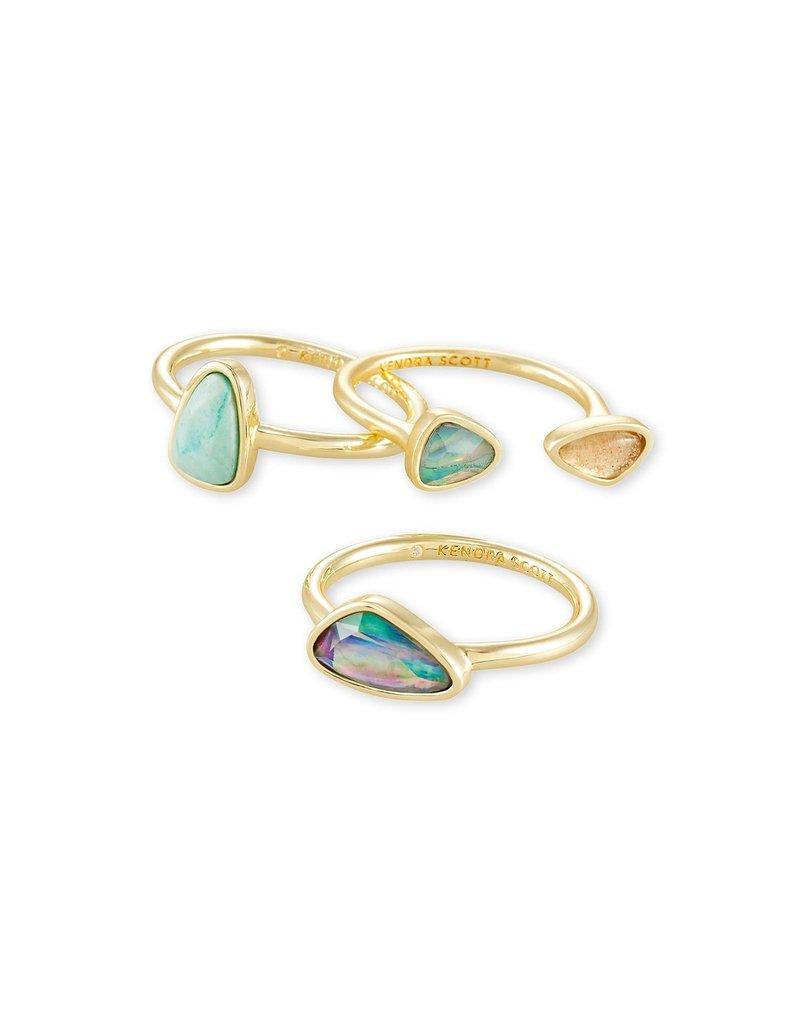 KENDRA SCOTT Ivy Gold Ring Set