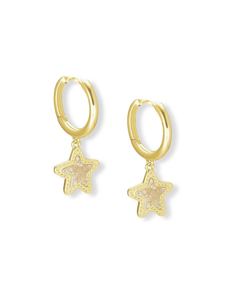 KENDRA SCOTT Jae Star Gold Huggie Earrings