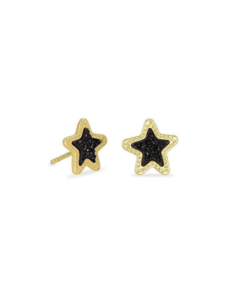 KENDRA SCOTT Jae Star Gold Stud Earrings
