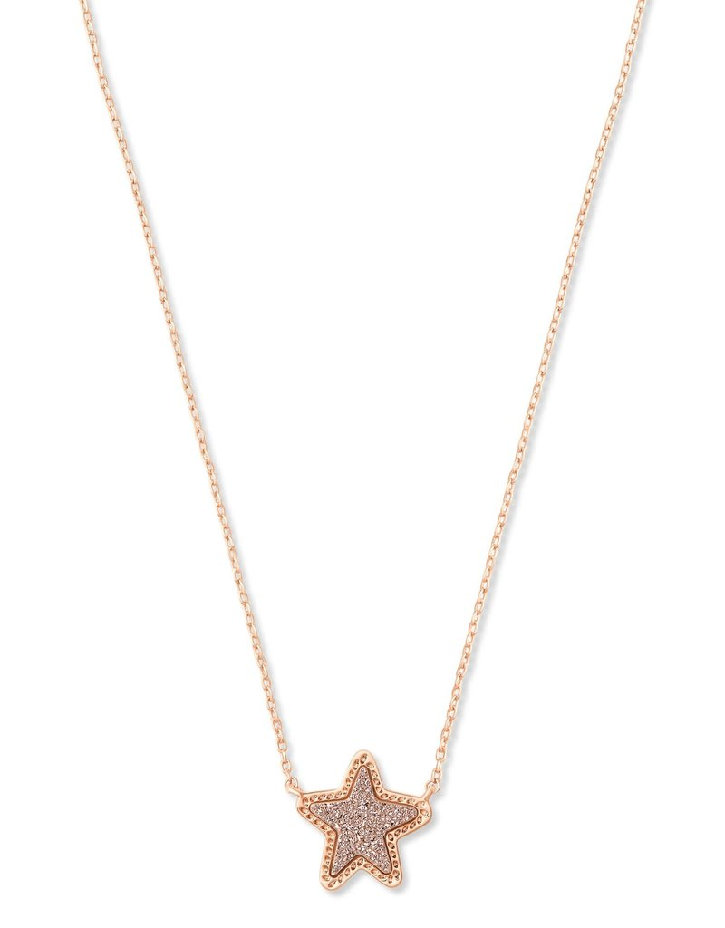 KENDRA SCOTT Jae Star Rose Gold Pendant Necklace