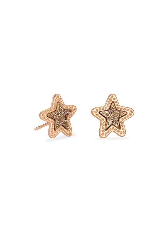 KENDRA SCOTT Jae Star Rose Gold Stud Earrings