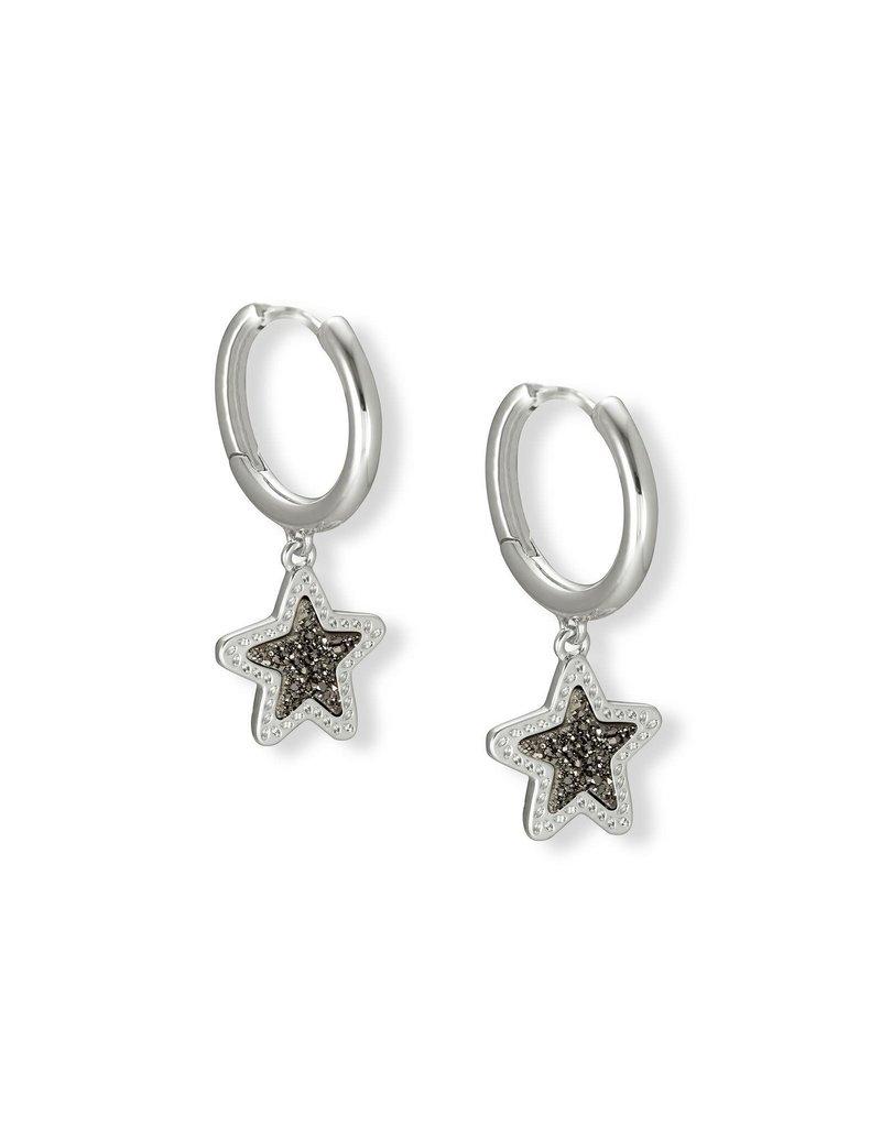 KENDRA SCOTT Jae Star Silver Huggie Earrings