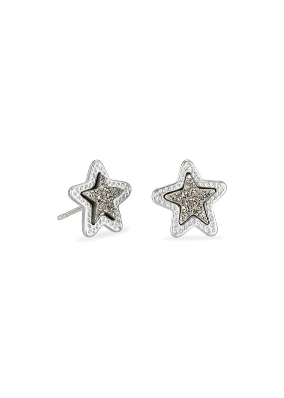 KENDRA SCOTT Jae Star Silver Stud Earrings