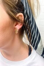 LOLA & LINA Raider Red Stud Earrings