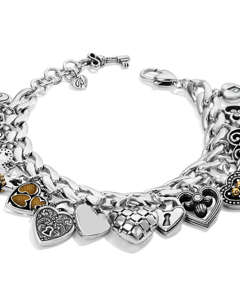 One Heart Charm Bracelet