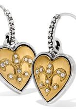 One Heart French Wire Earrings