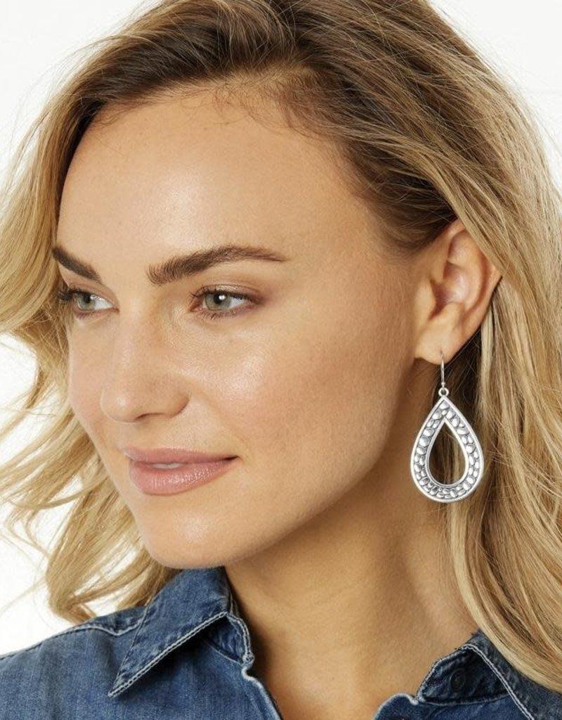 Pebble Open Teardrop Reversible Earrings