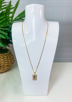 GEMELLI Jeweled Cross Necklace