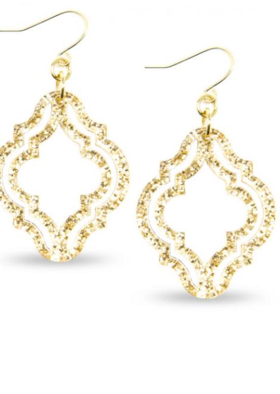 ZENZII Lattice Style Resin Drop Earrings