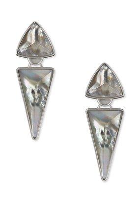 KENDRA SCOTT Vivian Silver Statement Earrings