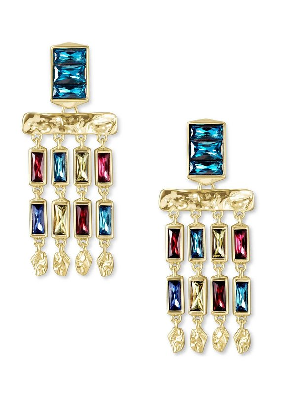 KENDRA SCOTT Jack Gold Small Statement Earrings