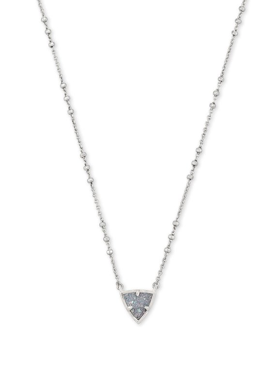 KENDRA SCOTT Perry Silver Pendant Necklace