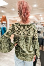 IVY JANE Baroque Embroidered Top