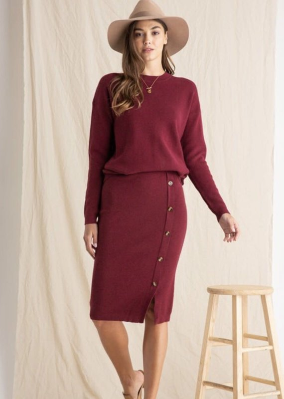 WELLMADE Chrisley Sweater & Skirt Set