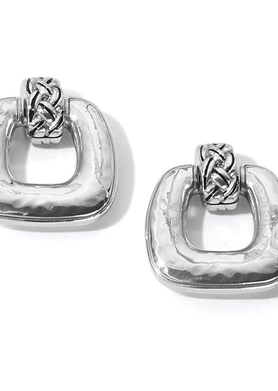 Interlok Woven Post Drop Earrings