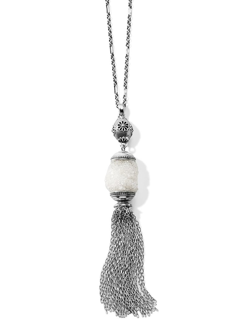 Rajasthan Druzy Tassel Necklace