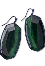 KENDRA SCOTT Danielle Faceted Gunmetal Earring