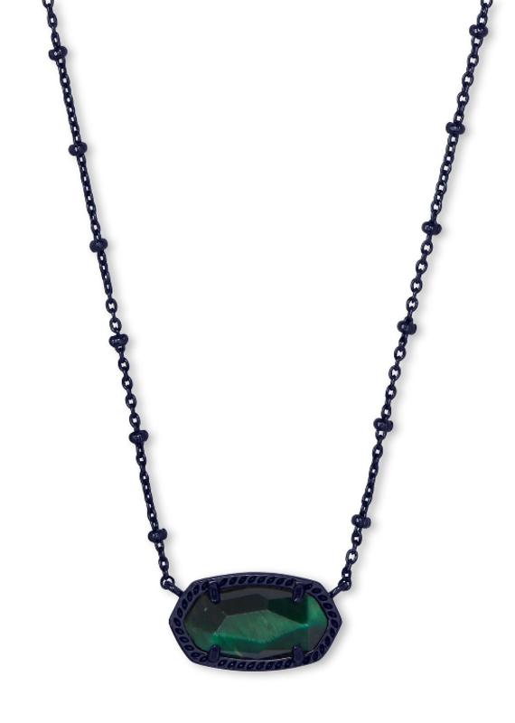 KENDRA SCOTT Elisa Satellite Gunmetal Short Pendant Necklace