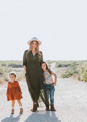 QUARTER TO FIVE Maddie Maxi Shirt Dress