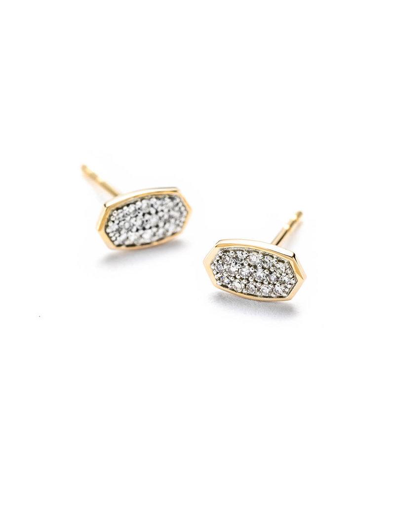 KENDRA SCOTT Marisa White Diamond Earrings