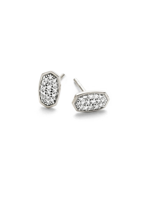 KENDRA SCOTT Marisa White Diamond Earrings