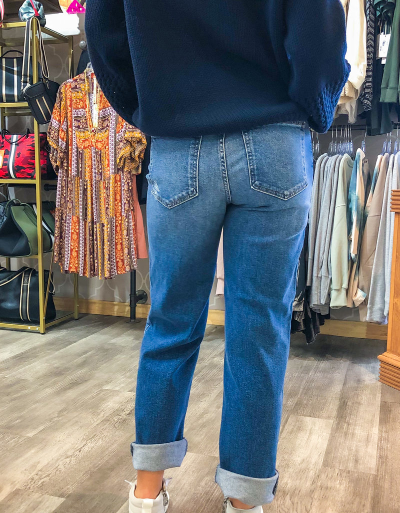 JFRTPANMACO Distressed Dad Jean