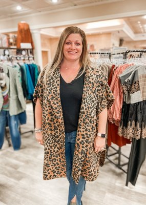 IVY JANE Can't Tame This Leopard Shawl Jacket